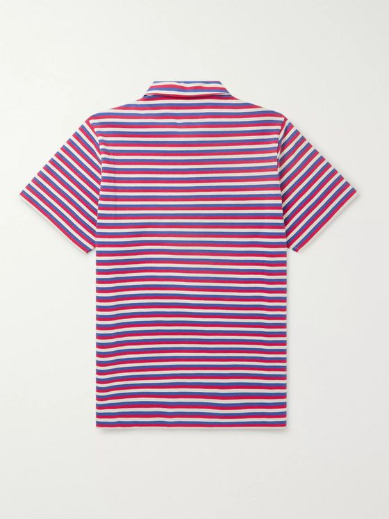 LOEWE + Paula's Ibiza Embroidered Striped Cotton Polo Shirt