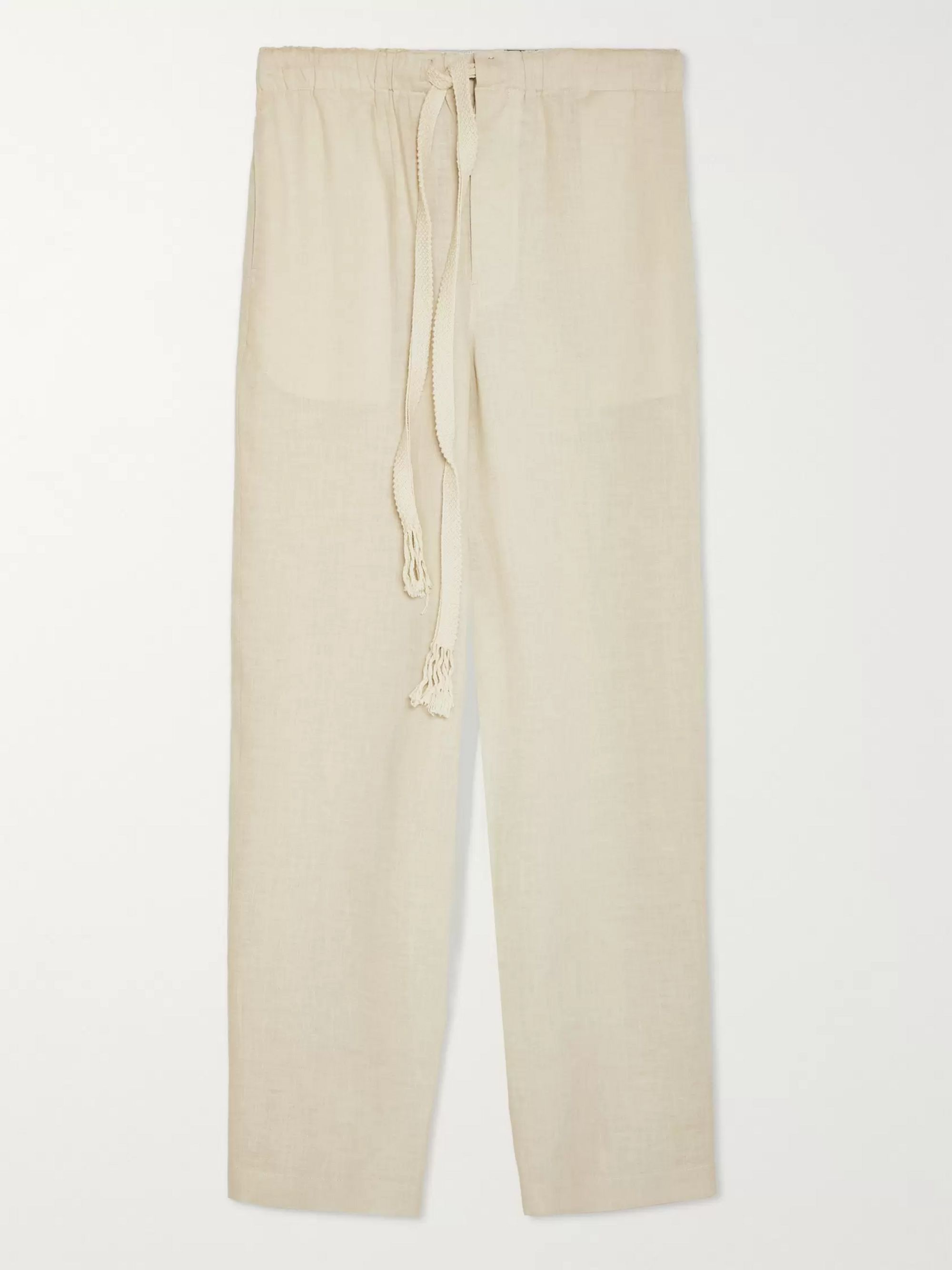Loewe + Paula's Ibiza Linen and Cotton-Blend Drawstring Trousers