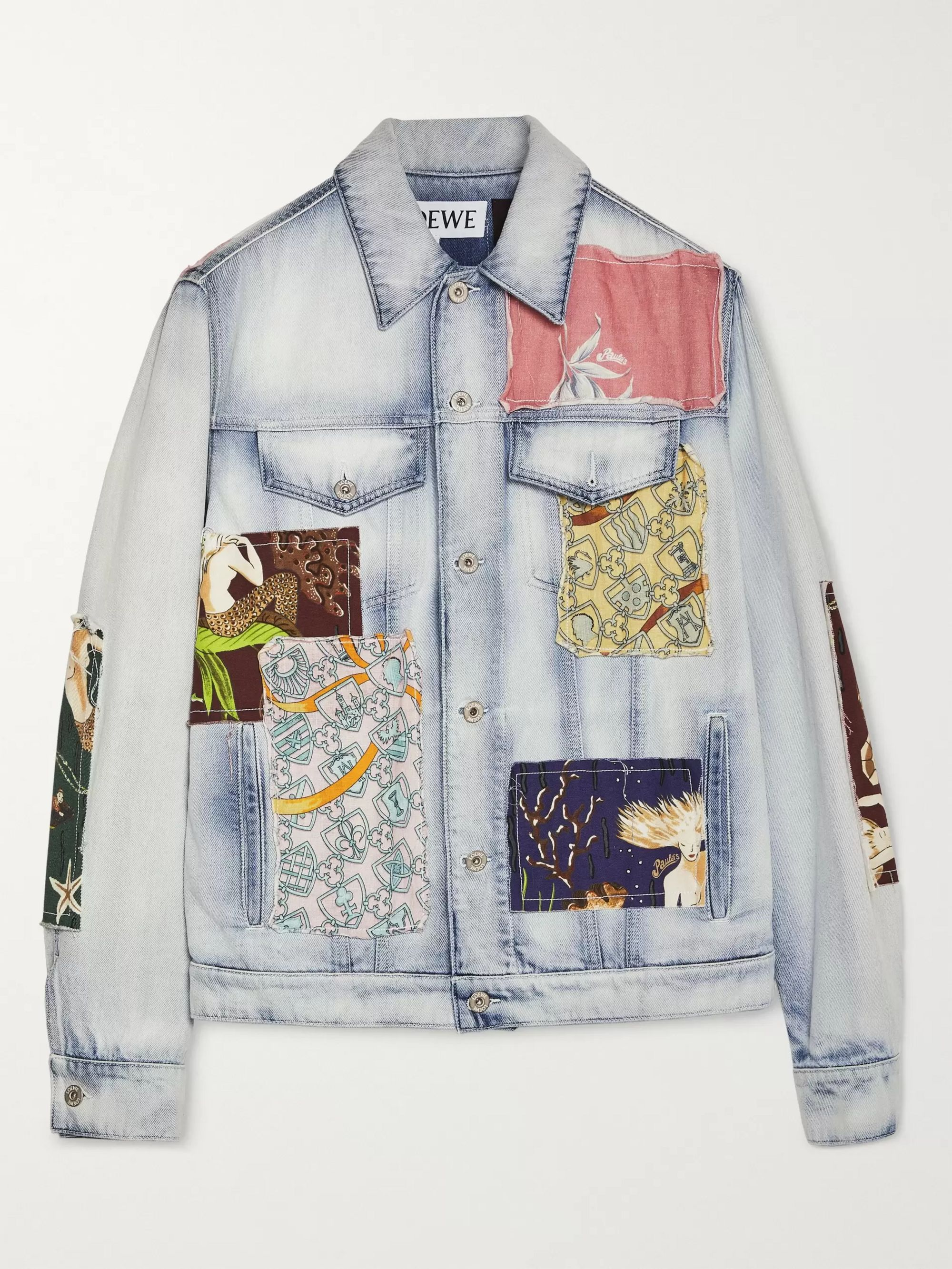 Patchwork denim jacket | Upcycled