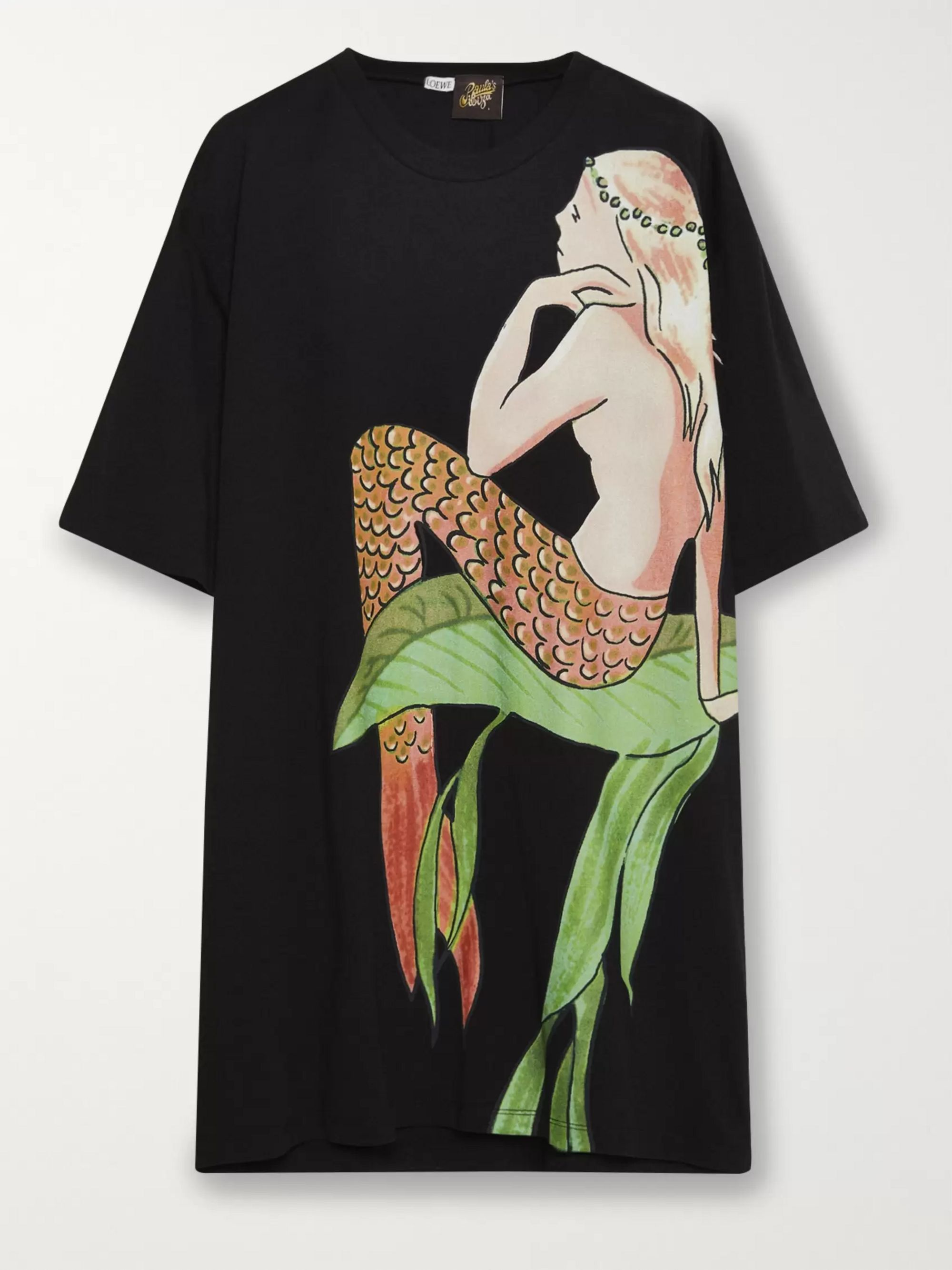 Black + Paula's Ibiza Oversized Printed Cotton-jersey T-shirt | Loewe