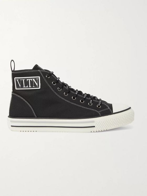 VALENTINO GARAVANI UOMO Valentino Garavani Logo-Detailed Tech-Canvas High-Top Sneakers