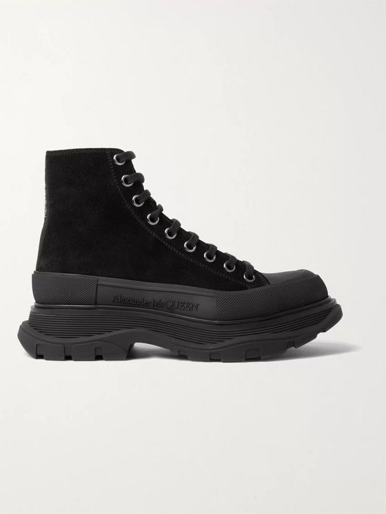 ALEXANDER MCQUEEN Suede High-Top Sneakers