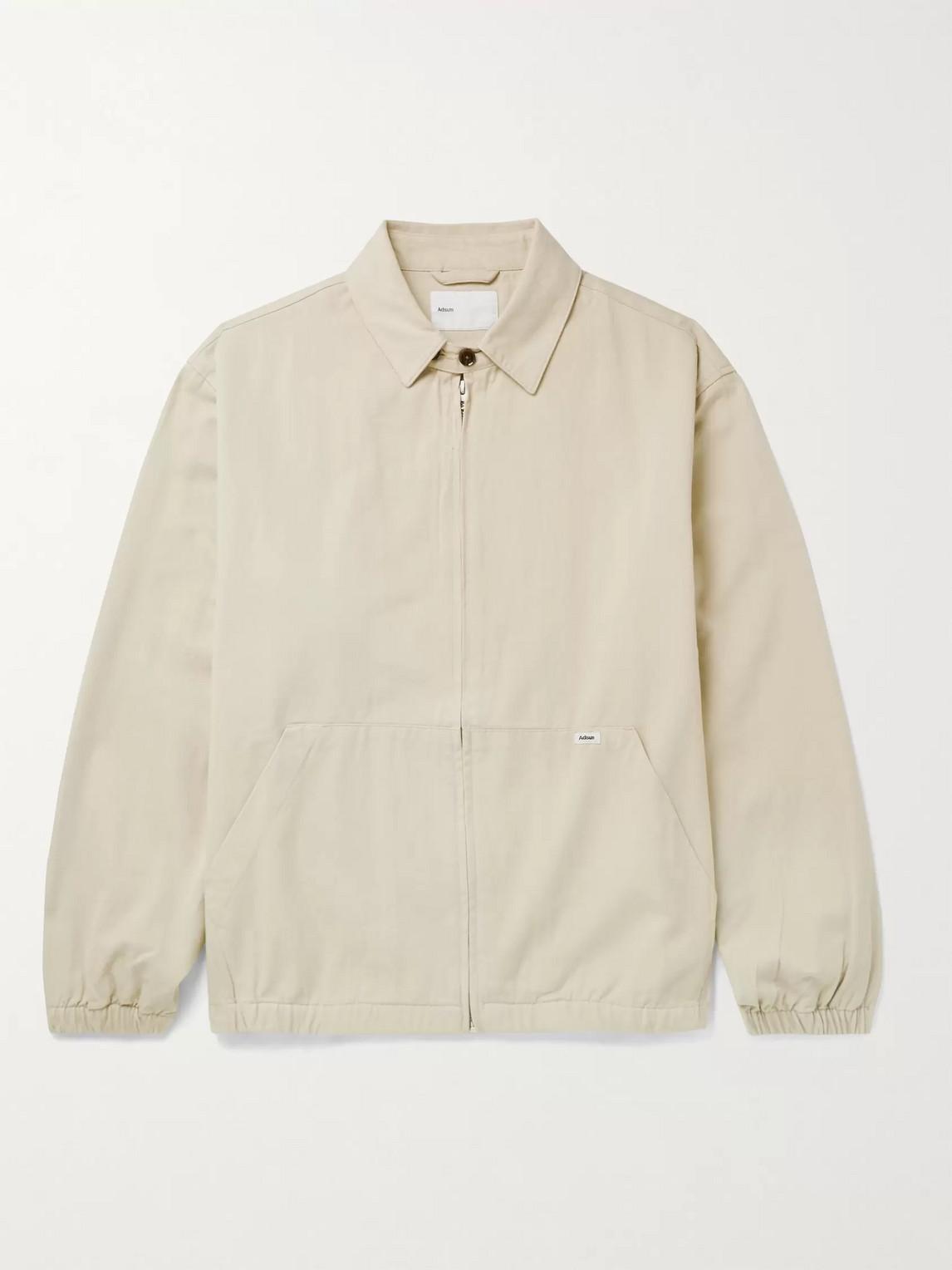 Adsum Crew Cotton-twill Harrington Jacket In Neutrals