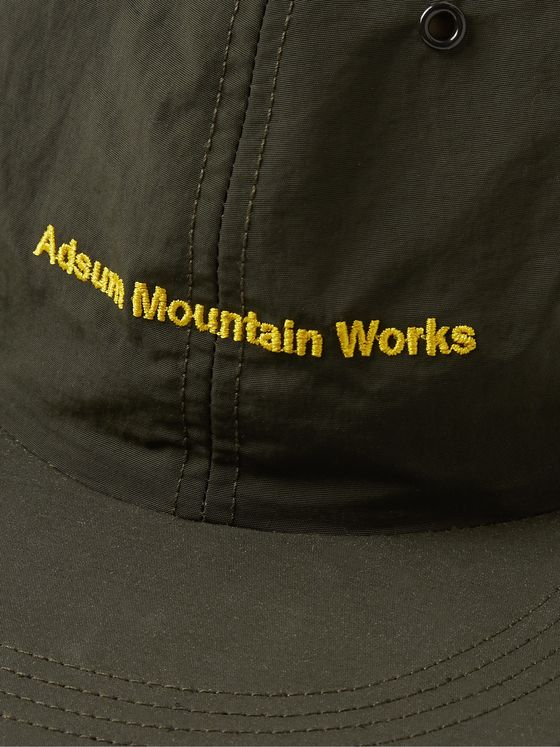 Adsum Embroidered Nylon-Taffeta Baseball Cap