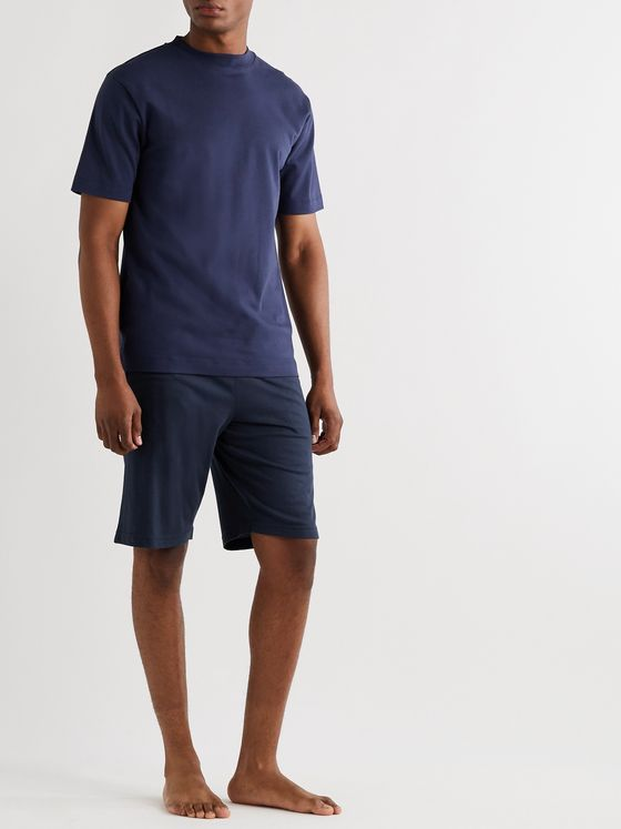 Sunspel Lounge Cotton and Modal-Blend Jersey Drawstring Shorts