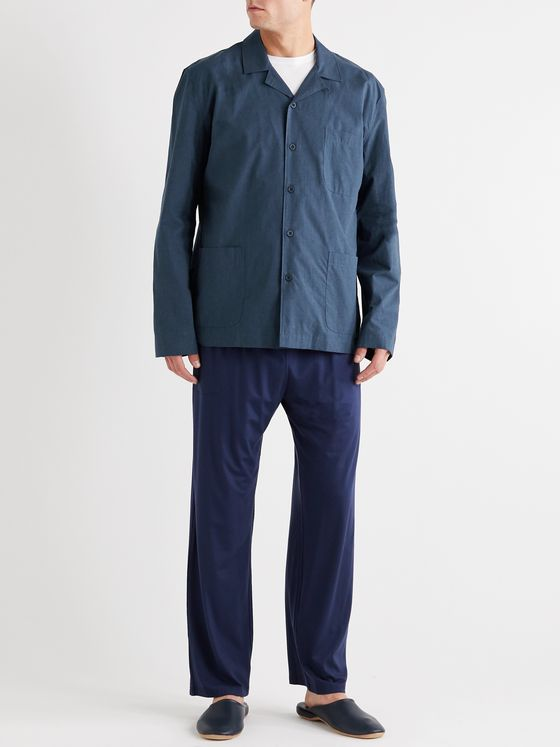 Sunspel Camp-Collar Cotton Pyjama Shirt