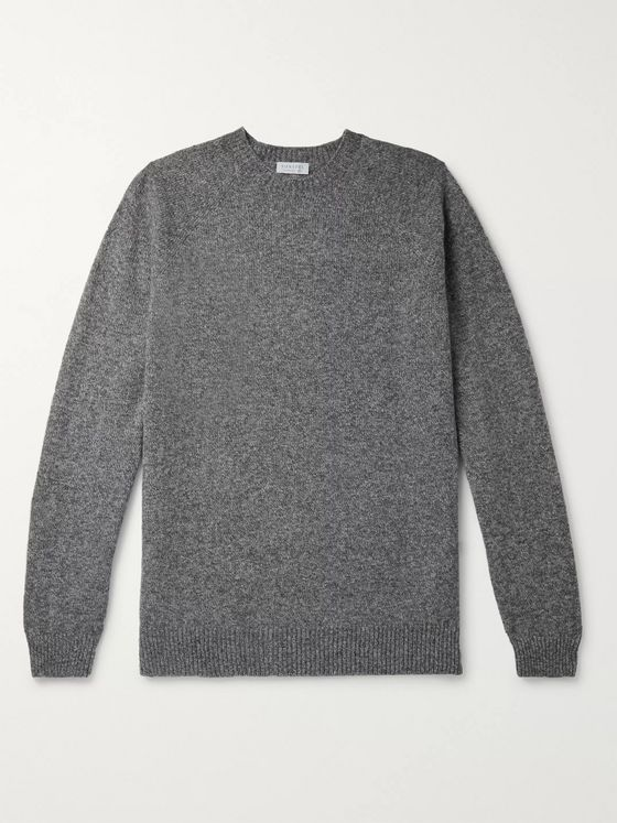Sunspel Mélange Shetland Wool Sweater