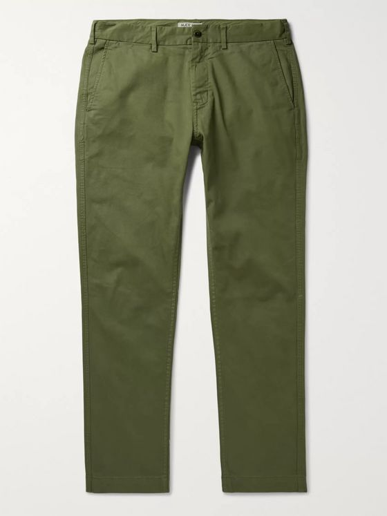 ALEX MILL Slim-Fit Cotton-Blend Twill Chinos