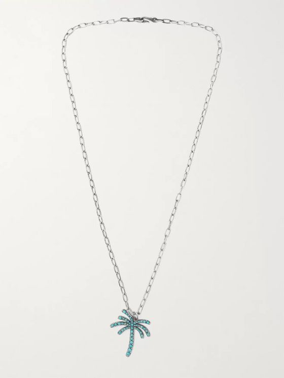 M.COHEN Sterling Silver and Turquoise Necklace