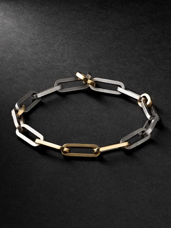 M.COHEN 18-Karat Gold and Sterling Silver Bracelet