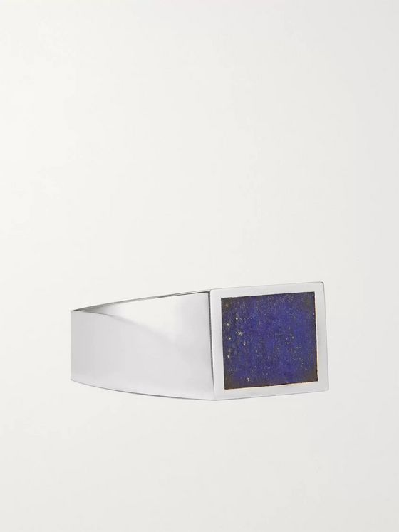 M.COHEN Sterling Silver and Lapis Lazuli Signet Ring