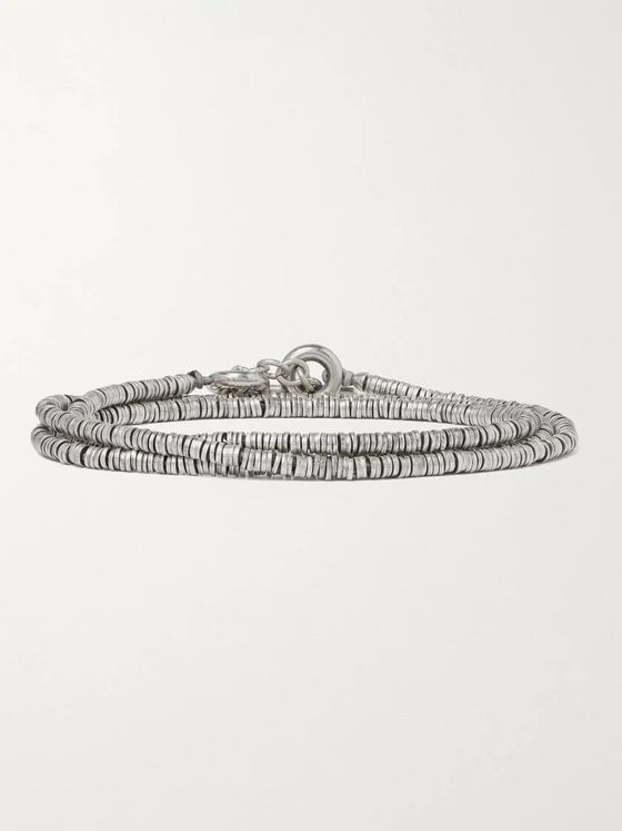 M.Cohen Burnished Sterling Silver Wrap Bracelet