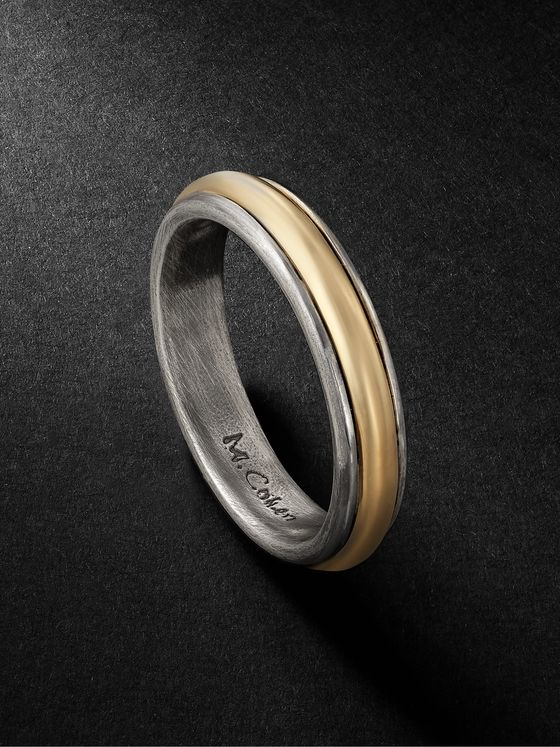M.COHEN 18-Karat Gold and Sterling Silver Ring