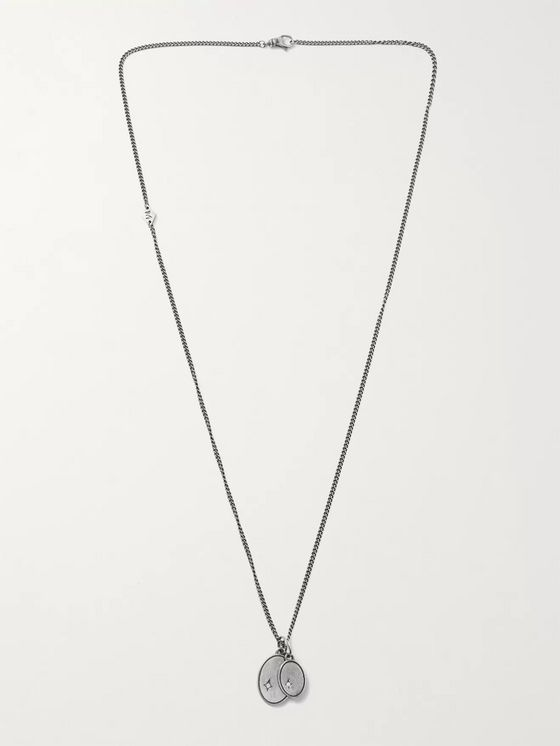 M.COHEN Sterling Silver Diamond Necklace