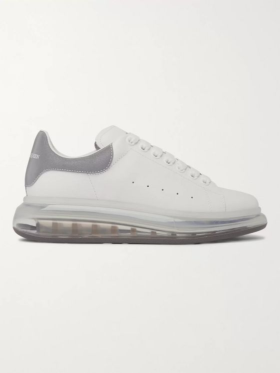 Alexander McQueen Exaggerated-Sole Reflective-Trimmed Leather Sneakers