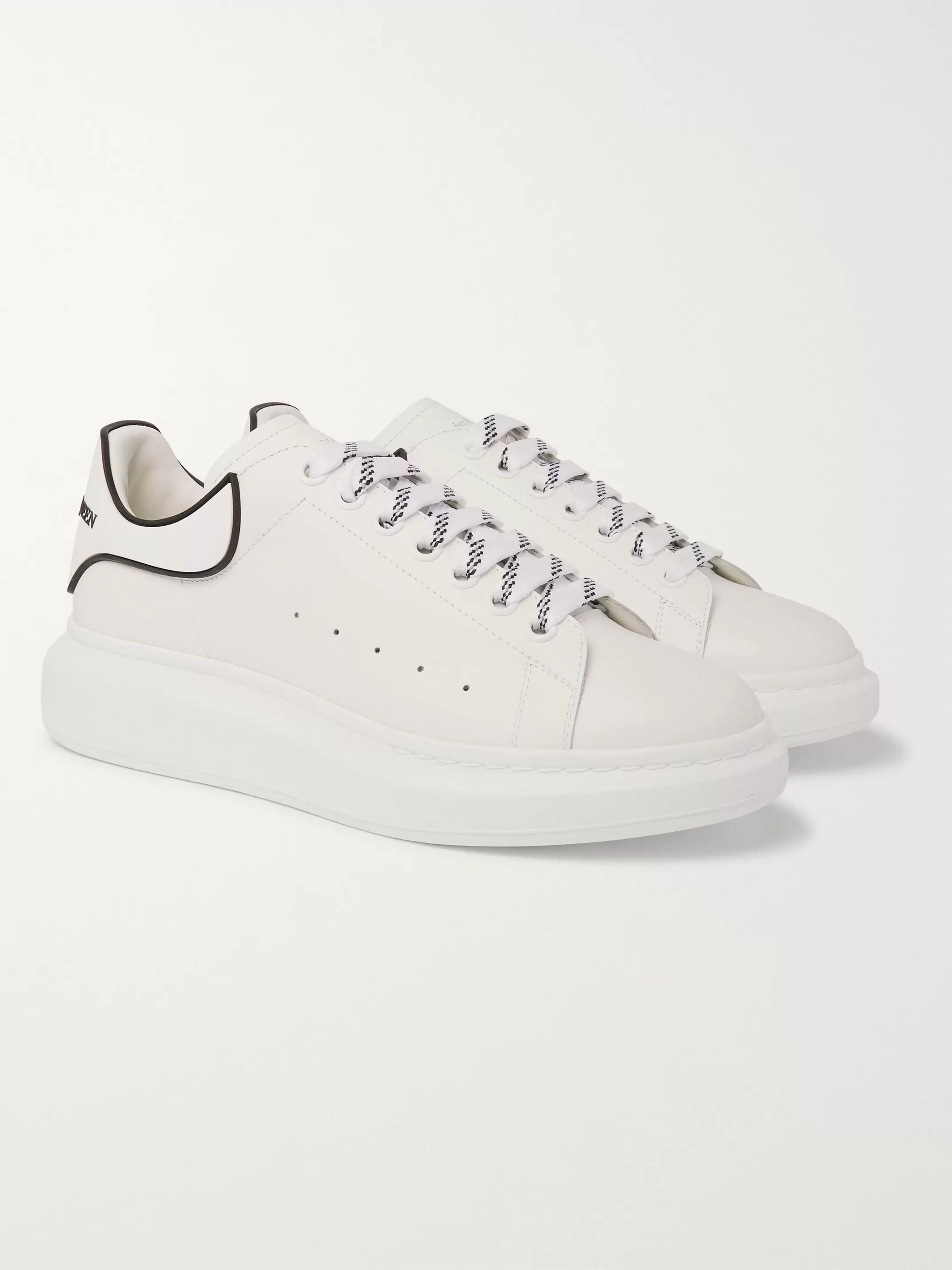 White Exaggerated-Sole Rubber-Trimmed