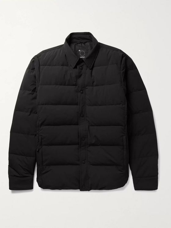 Aspesi Slim-Fit Quilted Nylon Down Jacket