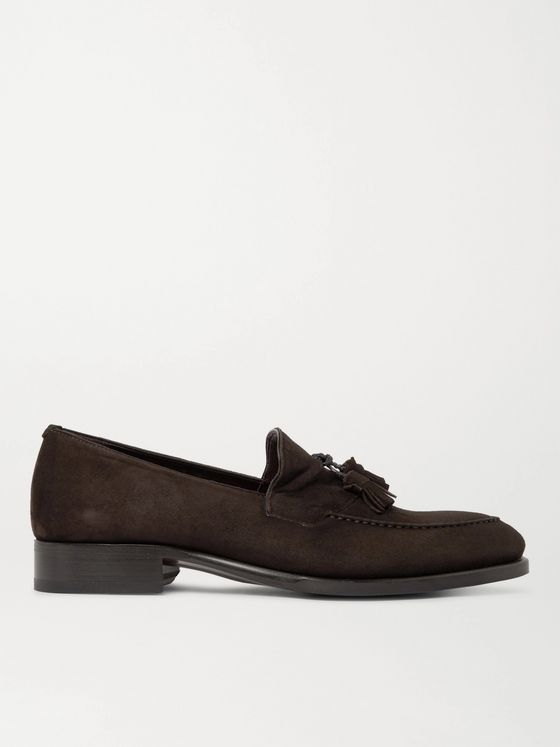 BRIONI Aurland Suede Tasselled Loafers
