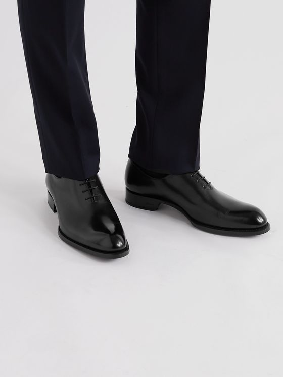 BRIONI Cardinal Polished-Leather Oxford Shoes