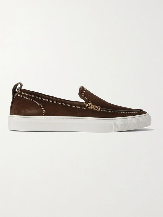 BRIONI Suede Slip-On Sneakers