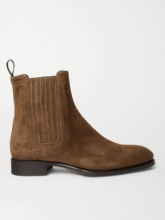 BRIONI Suede Chelsea Boots