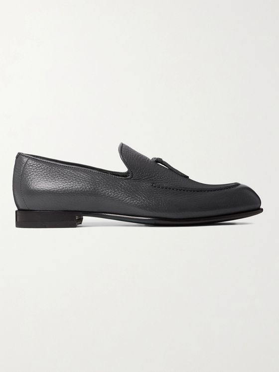 BRIONI Lukas Full-Grain Leather Tasselled Loafers