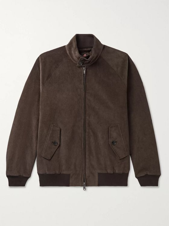 Baracuta G9 Stretch-Cotton Corduroy Harrington Jacket