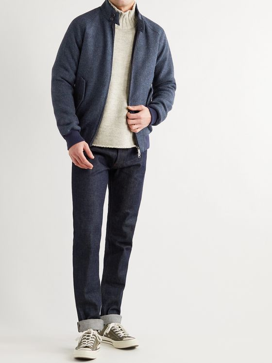 BARACUTA G9 Virgin Wool-Tweed Harrington Jacket