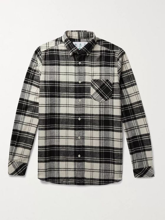 Barbour White Label Jackdaw Button-Down Collar Checked Cotton-Flannel Shirt