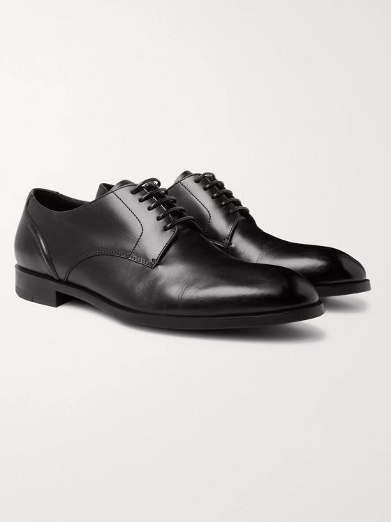 Ermenegildo Zegna Leather Oxford Shoes