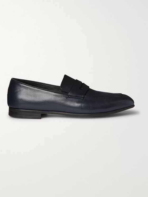 Ermenegildo Zegna Leather Penny Loafers