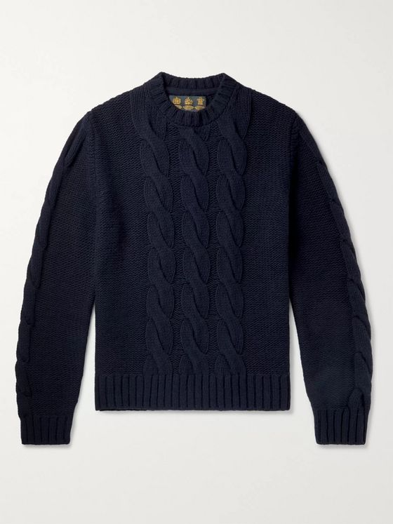 Barbour Gold Standard Lennox Cable-Knit Wool and Cashmere-Blend Sweater