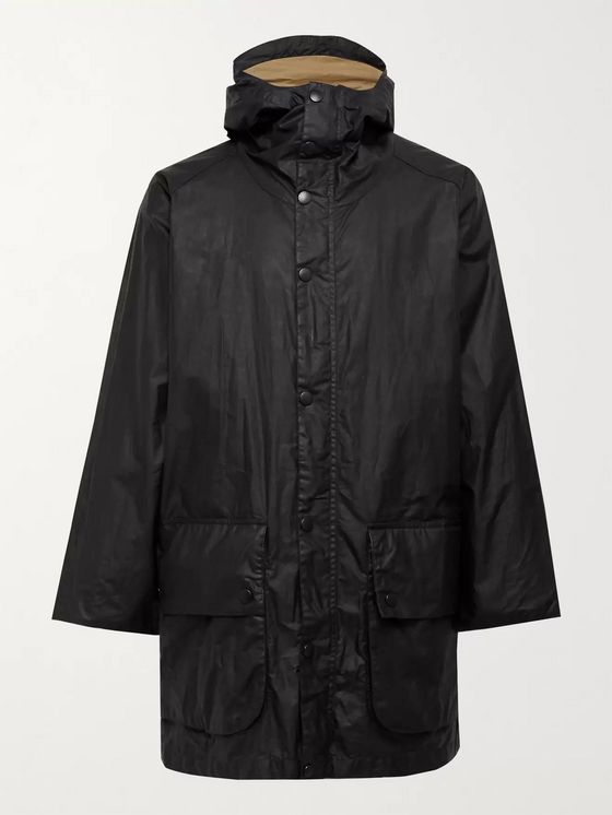 Barbour White Label Waxed-Cotton Hooded Parka