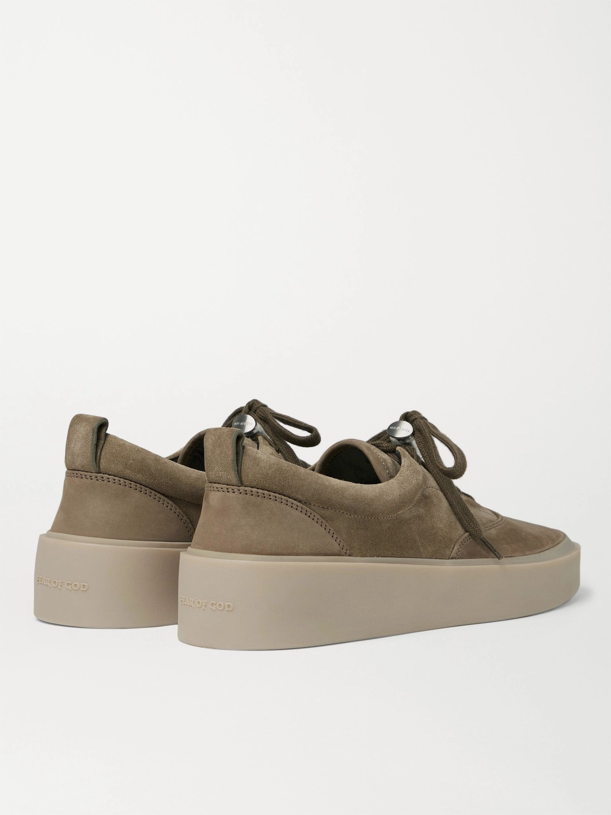 Army Green 101 Suede And Nubuck Sneakers | Fear Of God