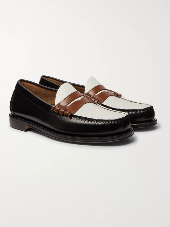 G.H. Bass & Co. Weejuns Heritage Larson Colour-Block Leather Penny Loafers