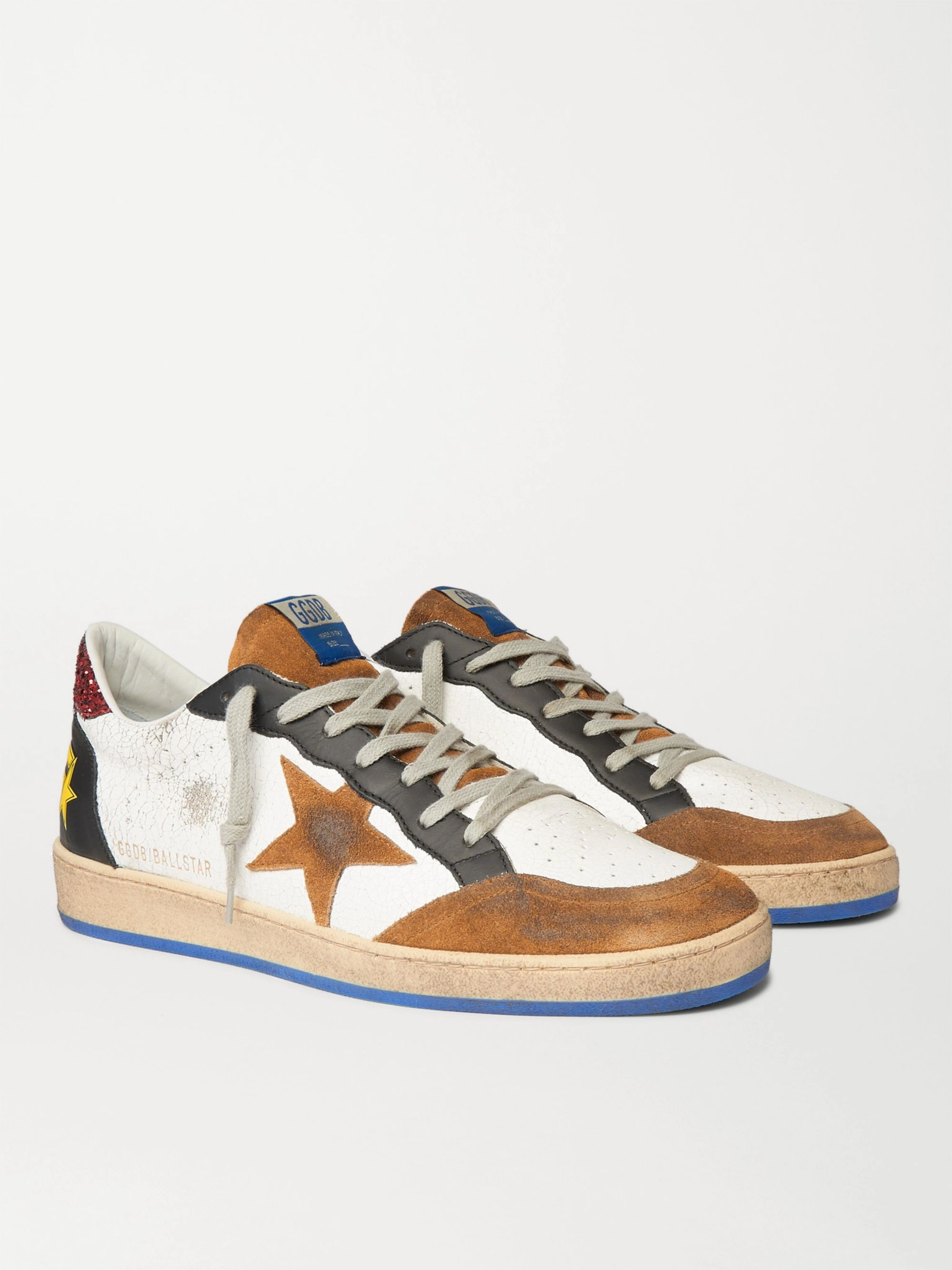 Ball Star Distressed Cracked-Leather