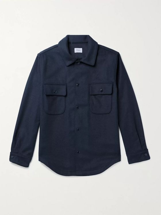 Bellerose Luther Wool-Blend Flannel Overshirt