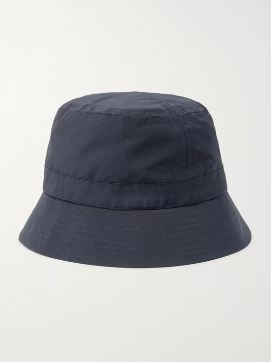 Bellerose Logo-Embroidered Cotton-Blend Canvas Bucket Hat