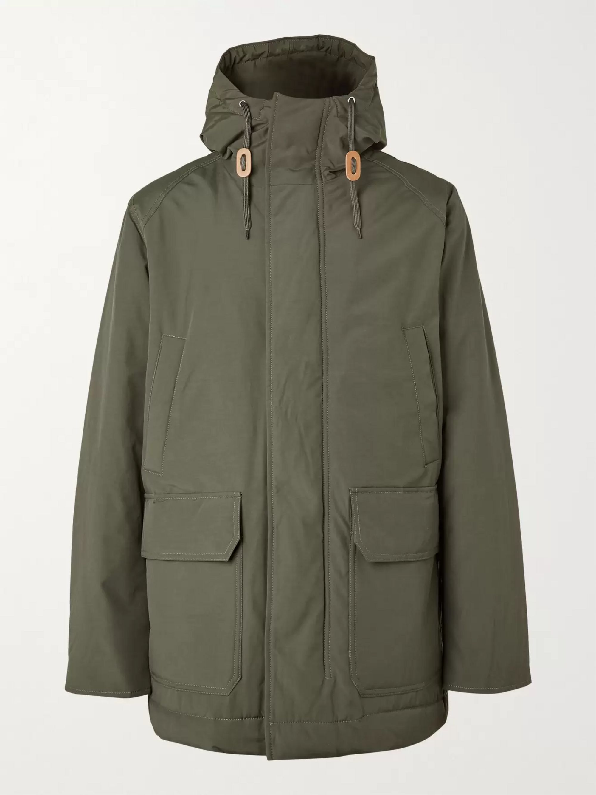 Army Green Cotton-blend Hooded Parka | Bellerose