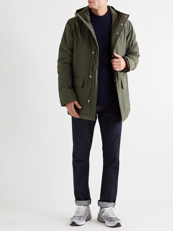 Bellerose Cotton-Blend Hooded Parka