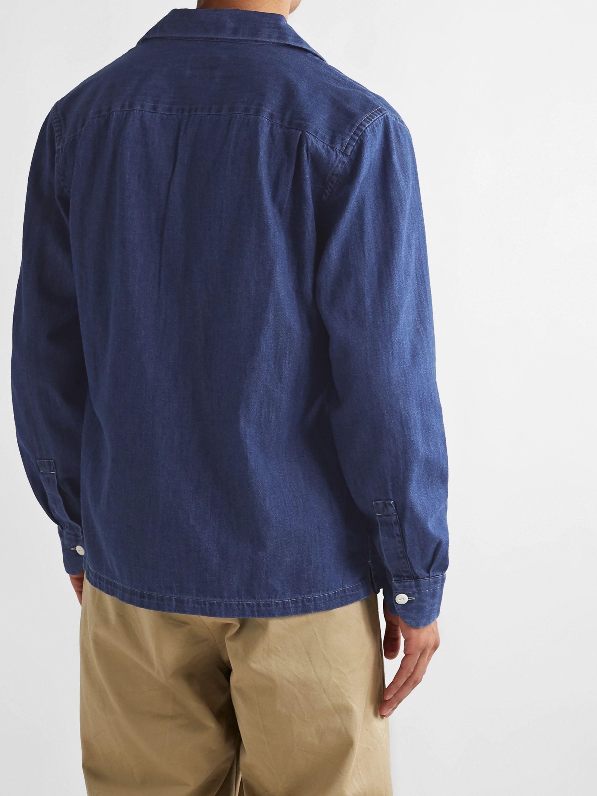 Blue Camp-collar Denim Shirt Jacket | Bellerose
