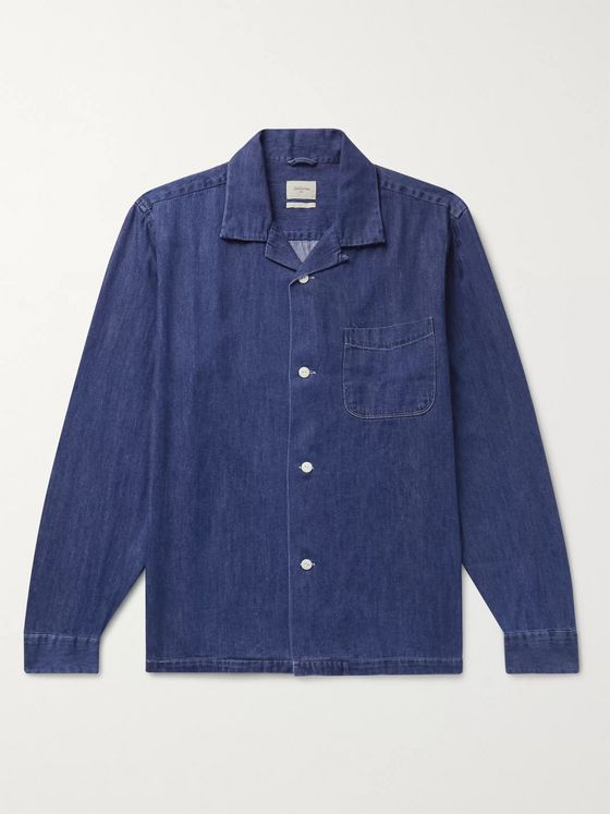 Bellerose Camp-Collar Denim Shirt Jacket