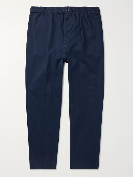 Bellerose Tapered Pleated Cotton-Twill Trousers