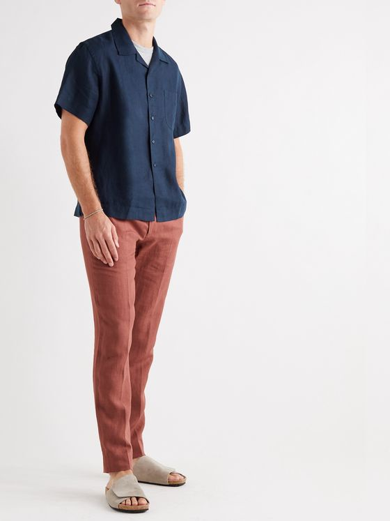 Bellerose Camp-Collar Printed Woven Shirt