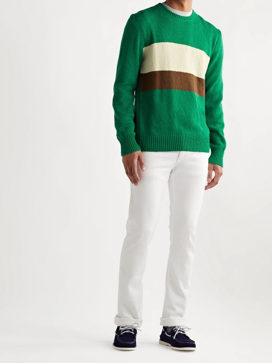 Bellerose Striped Cotton Sweater
