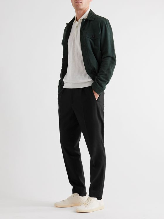 Barena Tapered Pleated Wool-Blend Twill Trousers