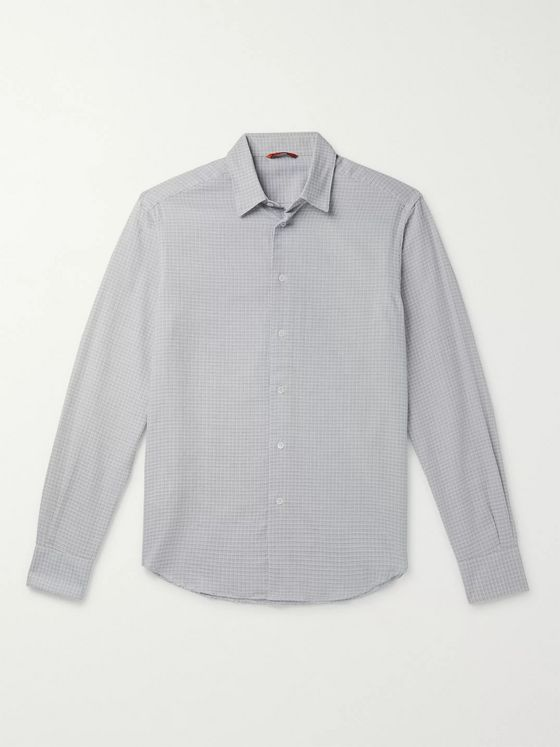 Barena Slim-Fit Pin-Dot Cotton Shirt