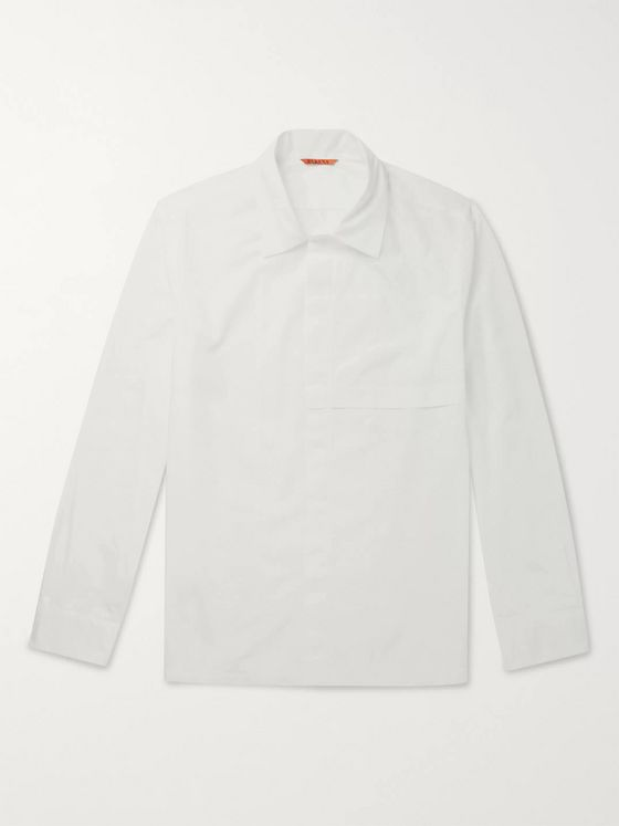 Barena Panelled Cotton-Poplin Shirt