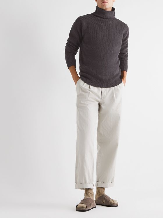 Barena Ribbed Virgin Wool Rollneck Sweater