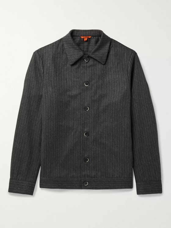 Barena Pinstriped Virgin Wool-Blend Overshirt